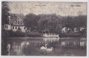 AK Bad Elmen Schwanenteich Schönebeck Elbe 1914 gelaufen