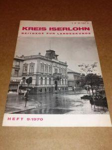 Kreis Iserlohn - Beiträge zur Landeskunde - Heft 9/1970 Bleicher, Wilhelm (StR.)