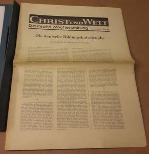 Christ und Welt - Deutsche Wochenzeitung - Sonderdruck Juni 1965 Christ und Welt (Hrsg.)