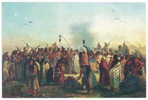 Sammelbild Europa-Bilderdienst Serie Unter Indianern Nr. 12 Indianer - Sammelbild - Europa-Bilderdienst - Serie: Unter Indianern Nr. 12 Skalptanz