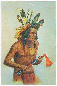 Sammelbild Europa-Bilderdienst Serie Unter Indianern Nr. 7 Indianer - Sammelbild - Europa-Bilderdienst - Serie: Unter Indianern Nr. 7 Kriegsbemalung