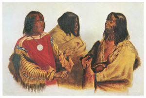 Sammelbild Europa-Bilderdienst Serie Unter Indianern Nr. 29 Indianer - Sammelbild - Europa-Bilderdienst - Serie: Unter Indianern Nr. 29 Schwierige Verständigung