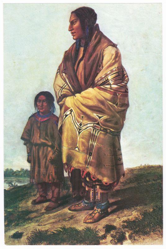 Sammelbild Europa-Bilderdienst Serie Unter Indianern Nr. 16 Indianer - Sammelbild - Europa-Bilderdienst - Serie: Unter Indianern Nr. 16 Die schöne Indianerin