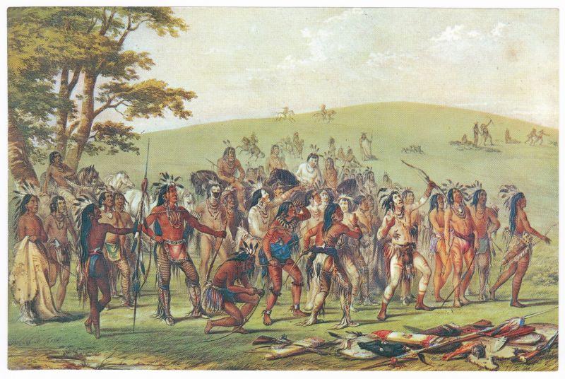 Sammelbild Europa-Bilderdienst Serie Unter Indianern Nr. 23 Indianer - Sammelbild - Europa-Bilderdienst - Serie: Unter Indianern Nr. 23 Das Pfeilspiel