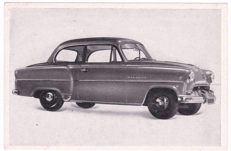 Sammelbild Austria-Bildwerk Das Deutsche Kraftfahrzeug E26 Opel Olympia Rekord - Austria-Bildwerk - REGIE - Folge II - Serie 2: Opel, Ford, BMW, Borgward - Opel Olympia Rekord 1953