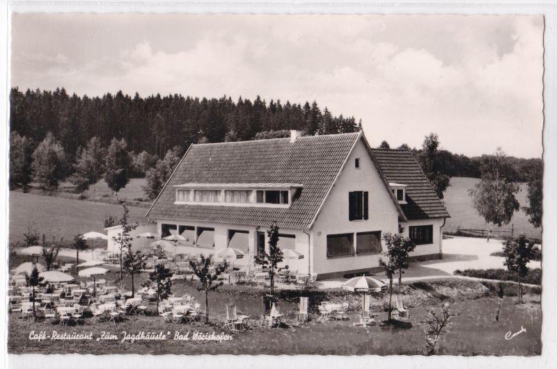 AK Bad Wörishofen Cafe Restaurant Zum Jagdhäusle Außenansicht ungelaufen