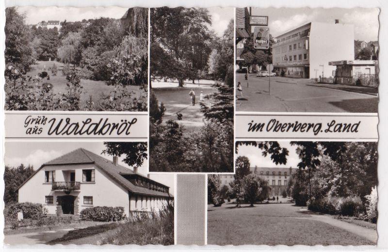 AK Gruß aus Waldbröl im Oberberg. Land Mehrbildkarte ungelaufen