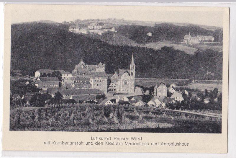 AK Luftkurort Hausen-Wied mit Krankenanstalt und den Klöstern Marienhaus und Antoniushaus ungelaufen