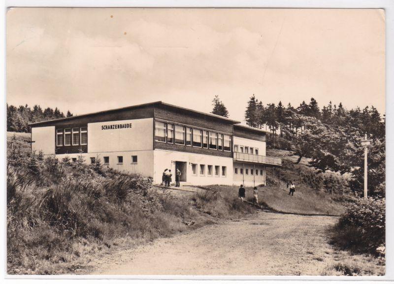 AK Oberhof Thür. Schanzenbaude 1972 gelaufen