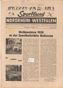 Sportbund Nordrhein-Westfalen - Werbeexemplar - amtliches Mitteilungsblatt des Sportbundes Nordrhein-Westfalen - Jahrgang 1951 Nr. 1 Heft 1 - für den Inhalt verantwortlich: Hugo Grömmer, Arnsberg Sportbund NRW (Hrsg.)