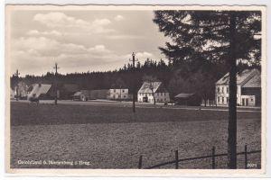 AK Gelobtland Marienberg Erzgebirge Teilansicht, Karl Thiele's Gaststätte, 1962 gelaufen