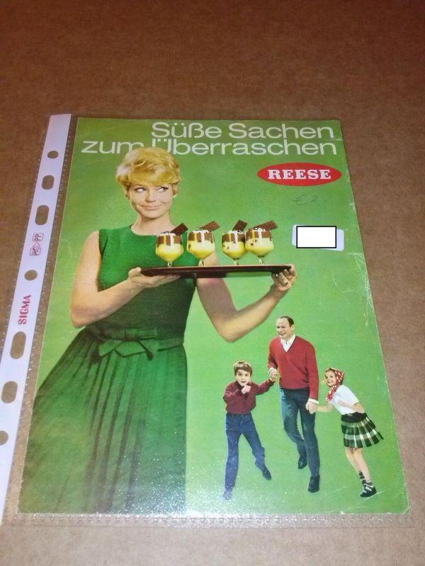 REESE - Süße Sachen zum Überraschen - farbiges Faltprospekt, illustriert. Um 1967 zu datieren. Reese (Hrsg.)