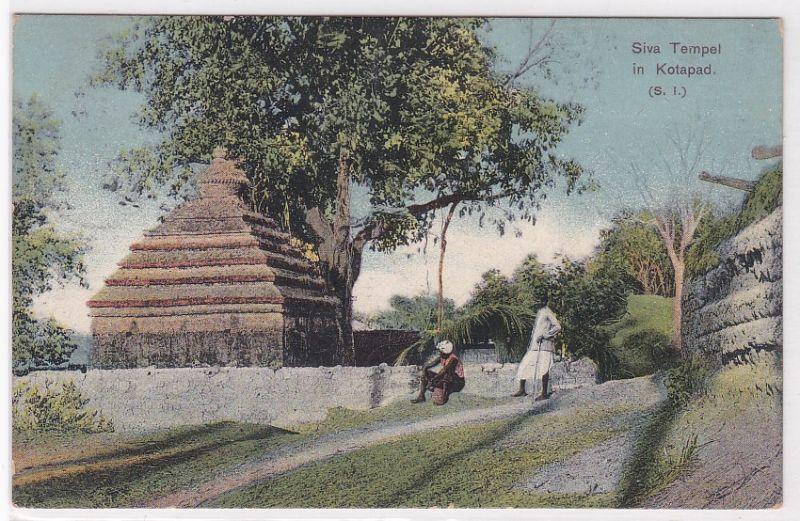 AK Siva Tempel in Kotapad (S. I.) 1912 gelaufen