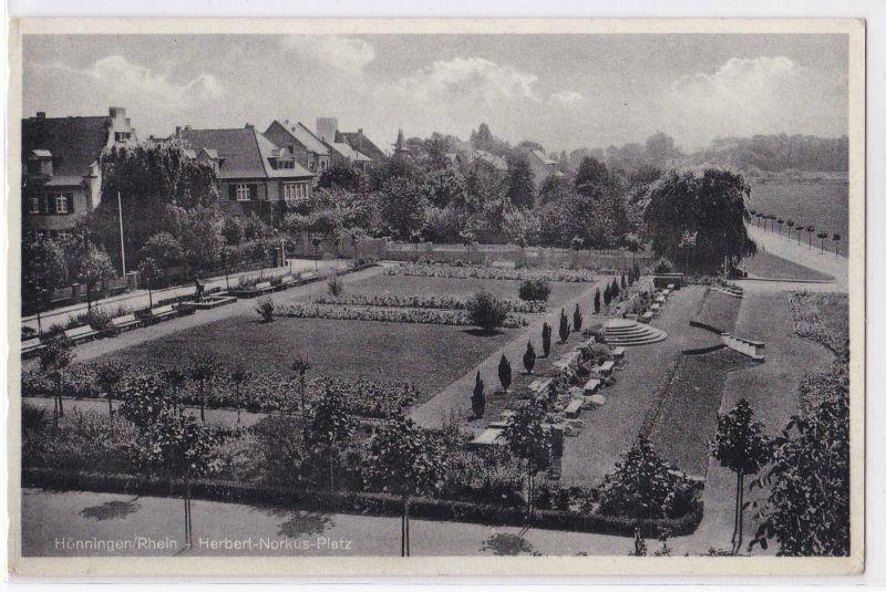 AK Hönningen Rhein Herbert-Norkus-Platz 1939 gelaufen