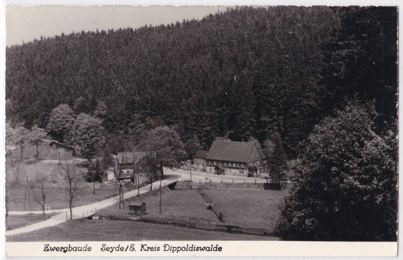 AK Hermsdorf Zwergbaude Seyde Erzgebirge Kreis Dippoldiswalde ungelaufen