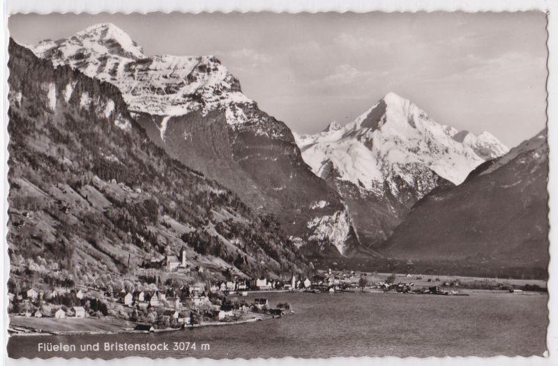 AK Flüelen und Bristenstock Panorama ungelaufen