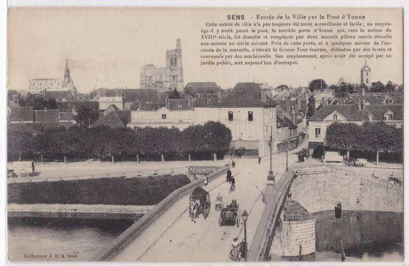 AK Sens - Entree de la Ville par le Pont d'Yvonne ungelaufen