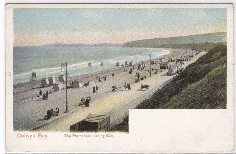 AK Colwyn Bay - The promenade looking East, ungelaufen