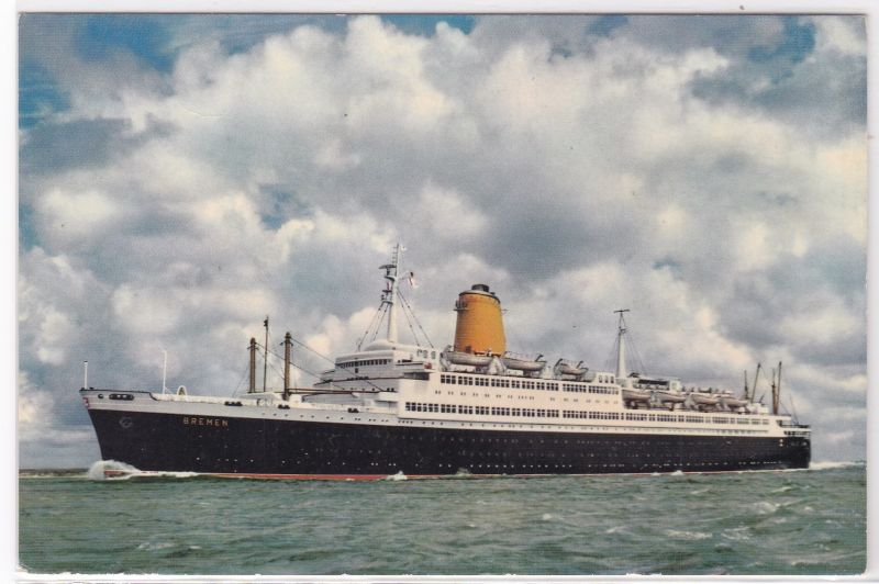AK Vierschrauben-T.S. Bremen, Flaggschiff des Norddeutschen Lloyd Bremen, ungelaufen
