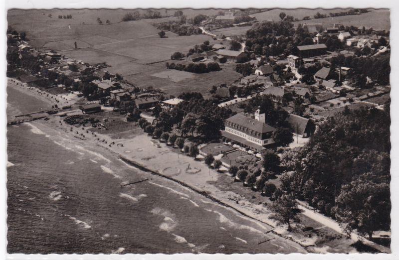 AK Ostseebad Haffkrug Fliegeraufnahme Luftbild Scharbeutz 1956 gelaufen 0