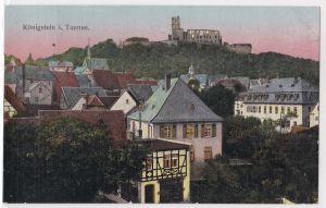 AK Königstein im Taunus alte Ansicht, goldene Fenster, ungelaufen