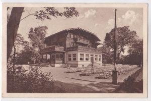 AK Königstein im Taunus Kurhaus Außenansicht mit Bestuhlung 1927 gelaufen