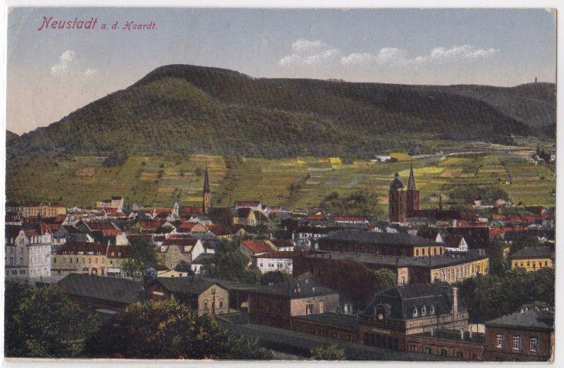 AK Neustadt an der Haardt an der Weinstraße Ortsansicht 1922 gelaufen