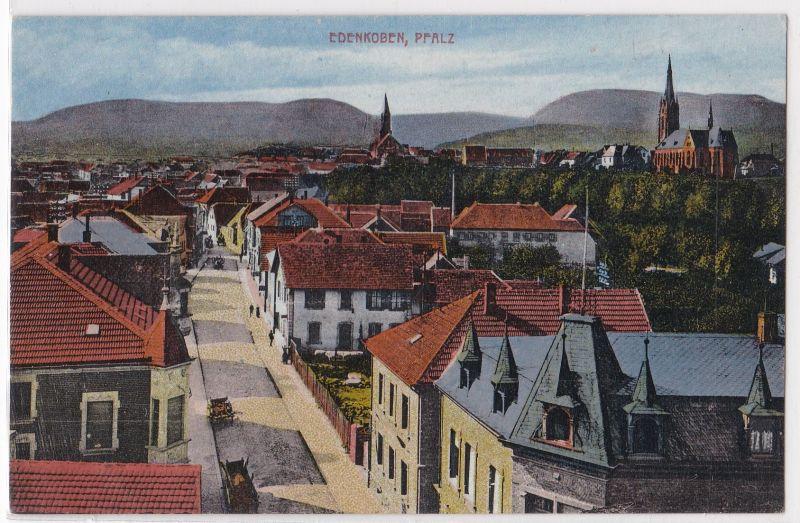 AK Edenkoben Pfalz Ortsansicht ungelaufen