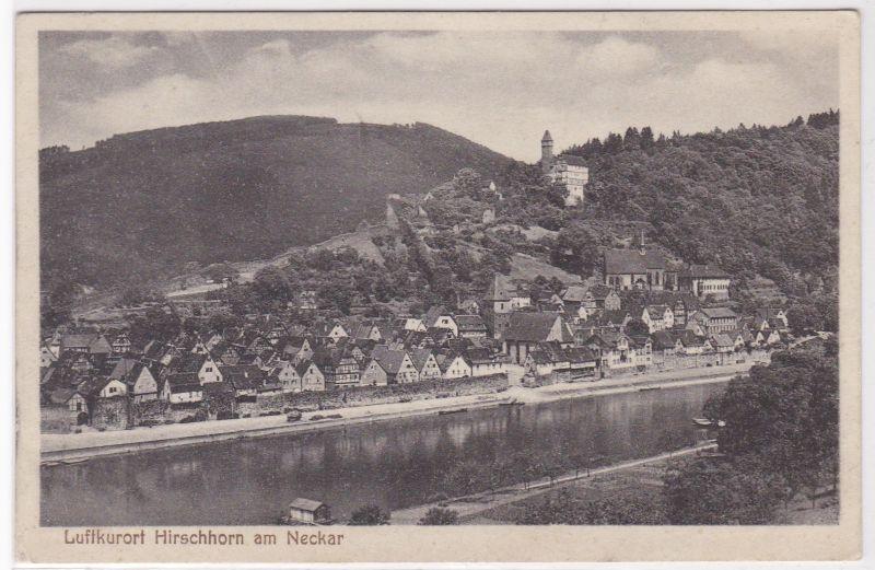 AK Luftkurort Hirschhorn am Neckar Ortsansicht ungelaufen