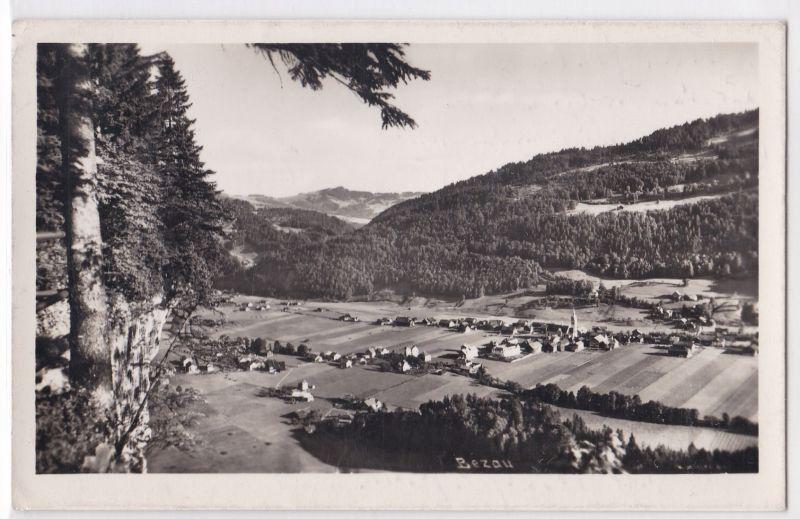 AK Bezau Panorama 1941 gelaufen