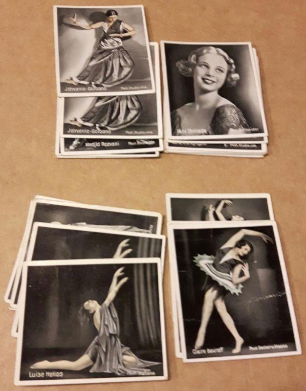 Sammelbilder Konvolut - Bilderbeilage zur Zigarette Eckstein Nr. 5 - 21 Bilder - Die Tanzbühnen der Welt Gruppe 3 Das Tanzpodium - Nr. 123 Claire Bauroff, 125 Linnie Ferrick, 126 Mila Cirul, 127 Nini Theilade, 128 Nini Theilade, 133 Edna v. Breymann, 1...
