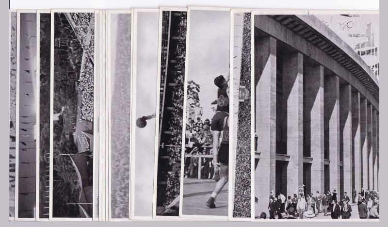 15 Sammelbilder. Olympia 1936 - Band II - Sammelwerk Nr. 14 - Gruppe 58 (9 Bilder: Bild Nr. 143, 146, 149, 155, 159, 160, 176, 190, 198) und Gruppe 59 (6 Bilder: Bild Nr. 142, 144, 147, 157, 187, 197).