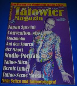 Tätowier-Magazin / Tätowiermagazin - Das Forum der deutschen Tattoo-Szene - 1. Jahrgang Heft 6 1994 Oktober/November - Inhalt u.a. Japan Special, Convention Neuss/Stockholm, Auf den Spuren der Maori, Studio-Porträts: Tattoo-Alien/Bernie Luther, Tattoo-...