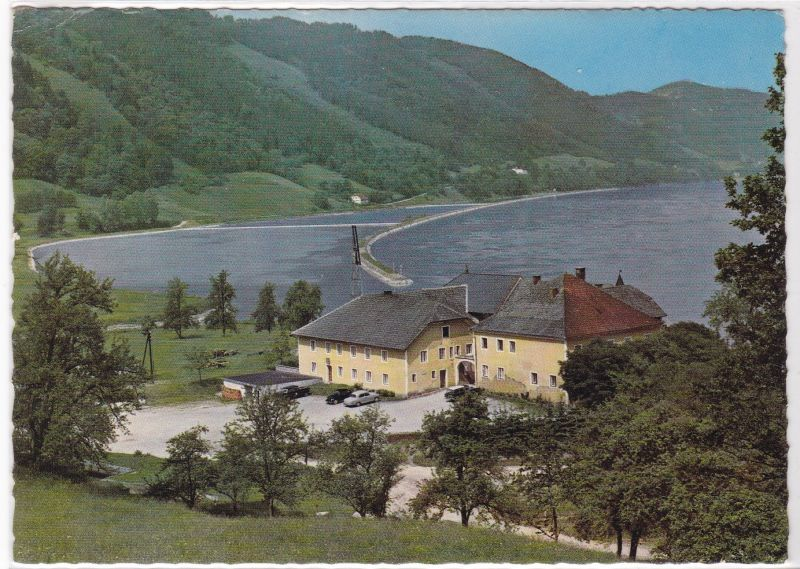 AK Gasthaus z. Schlögener Donauschlinge Haibach/ob. d. Donau Engelhartszell ungelaufen