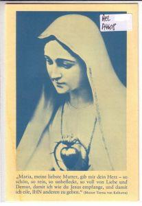 Faltprospekt / Front mit Abbildung: Herz Maria - innen mit Texten