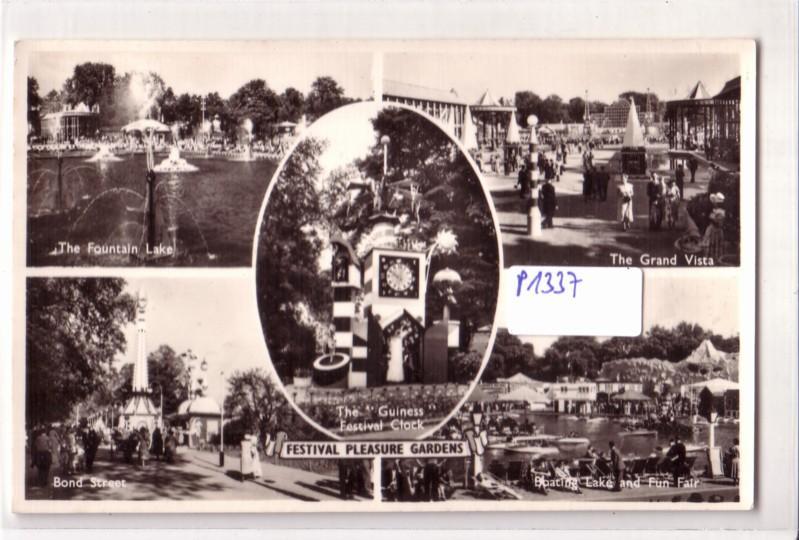 AK Großbritannien Festival Pleasure Gardens London Mehrbildkarte ungelaufen
