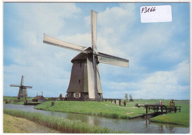AK Niederlande Schermerhorn Poldermolens uit de Gouden Eeuw ungelaufen