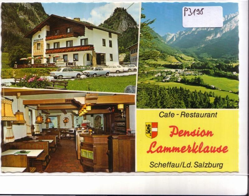AK Österreich Cafe Restaurant Pension Lammerklause Bes. B. und M. Bernhofer Scheffau am Tennengebirge ungelaufen