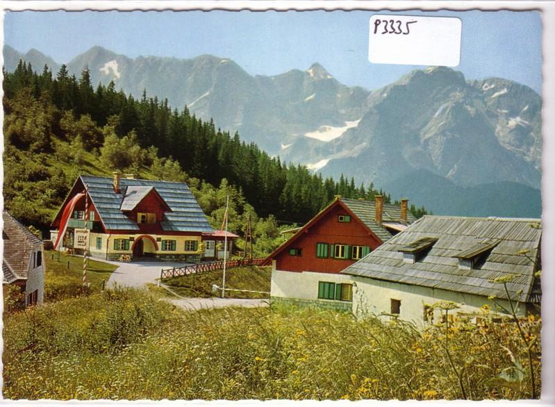 AK Österreich Seebergsattel Steineralpen Grenze Österreich-Jugoslawien ungelaufen