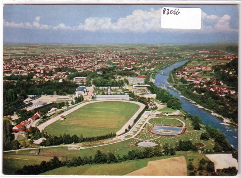 AK Österreich Wels Luftaufnahme Luftbild ungelaufen