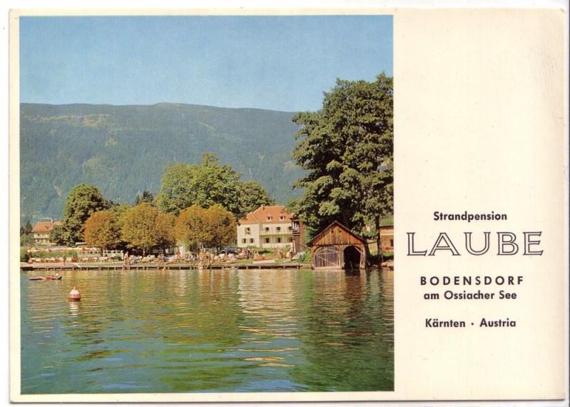 AK Österreich Strandpension Laube Bodensdorf am Ossiacher See Kärnten Austria ungelaufen
