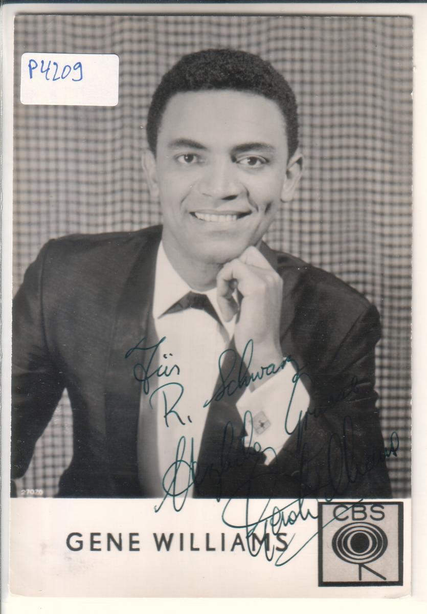 Autogrammkarte Gene Williams signiert