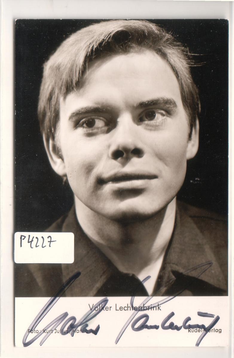 Autogrammkarte Volker Lechtenbrink signiert Foto: Kurt Julius, Hannover