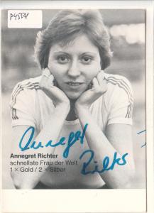 Autogrammkarte Annegret Richter signiert