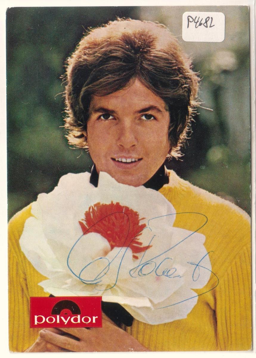 Autogrammkarte Chris Roberts signiert, umseitig Diskographie