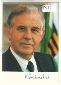 Autogrammkarte Kurt Biedenkopf signiert, CDU