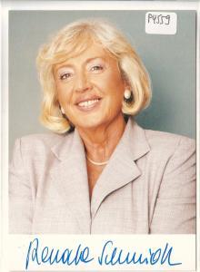 Autogrammkarte Renate Schmidt signiert, SPD Bundesministerin