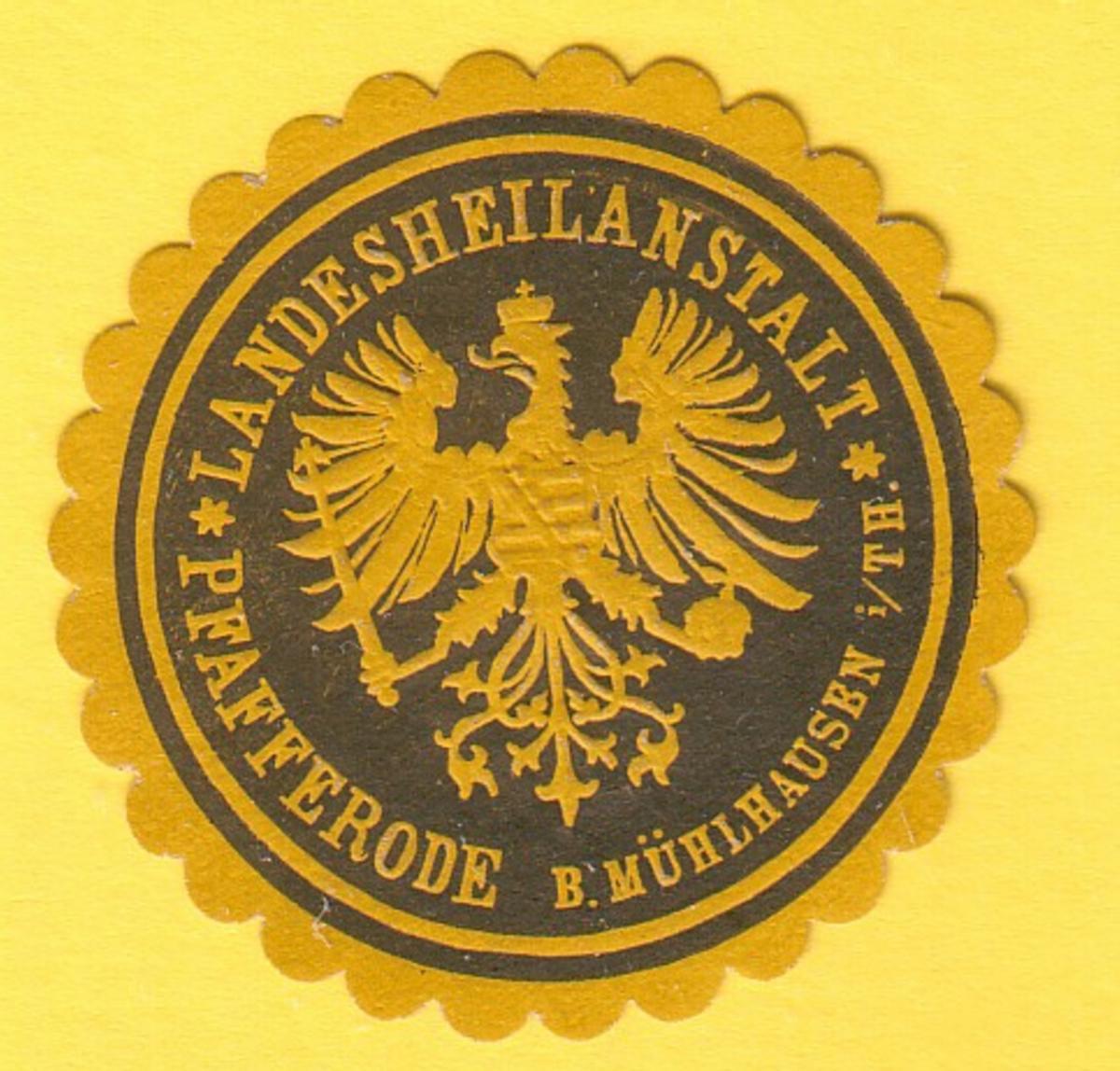 Siegelmarke Landesheilanstalt Pfafferode b. Mühlhausen i/Th.
