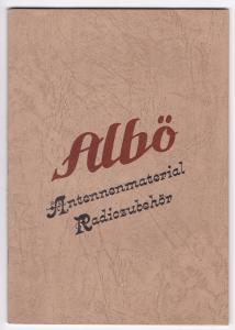 Albö Albert Böttinger Ruhla Radio Antennenmaterial Liste Katalog Zubehör 1933. Albö Antennenmaterial Radiozubehör. Albert Böttinger Metallwaren-Fabrik. Spez.-Abt.: Radiotechnische Artikel. Ruhla in Thüringen. Gegründet 1864. ALBÖ-Radio, Zur Messe in Le...
