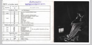 Elektrische Öfen der AEG 1913 Quartzaliteofen System Bastian u.a. Faltprospekt / Faltheft. Elektrische Öfen der AEG zu beziehen durch: (Firmenstempel) Elektromotor Gesellschaft mit beschränkter Haftung. Randhinweis: Obige Preise gelten für 110 oder 220...